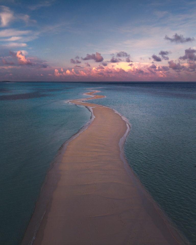 Maldives - Long Beach at Sunrise