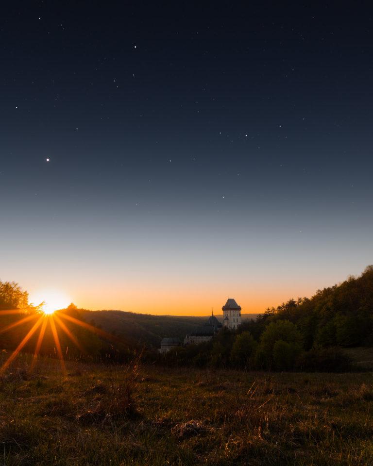 Karlstejn sunset view