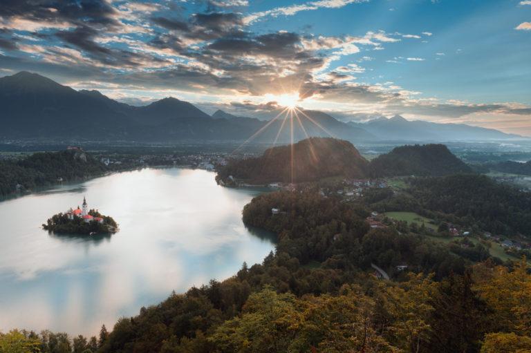 Mala Osojnica viewpoint at Lake Bled (Slovenia)