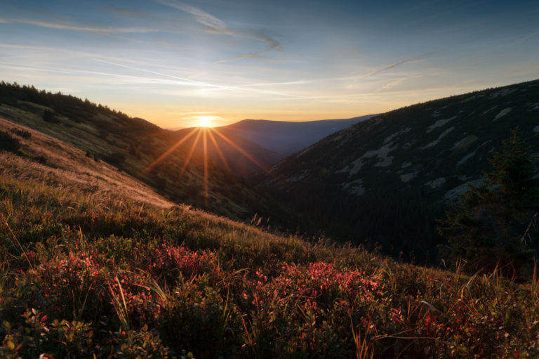 Sunset capture in Krkonose mountains by Nikon Z6