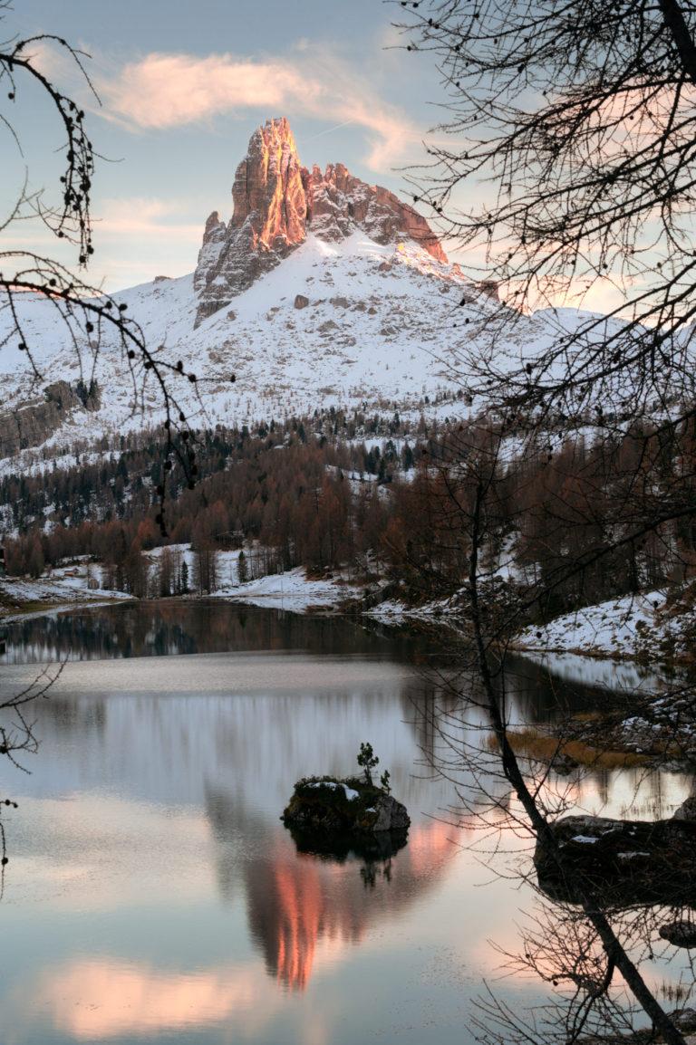 Sunset at Lago di Federa